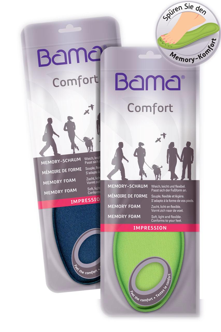 BAMA Comfort weiche Einlage Komfort Fußbett Einlegesohle Memory Foam Neu