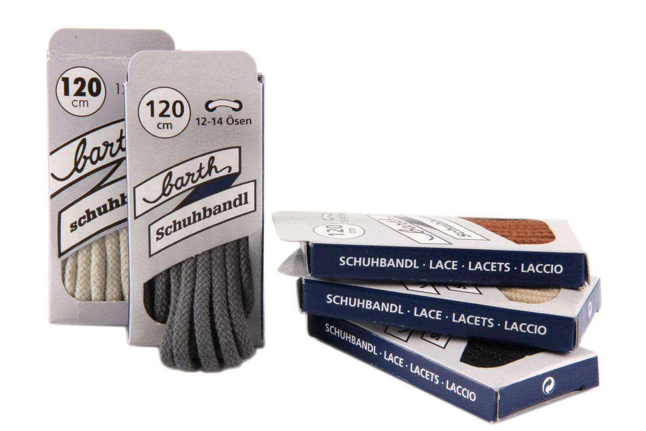 2 Paar Flachsenkel Schnürsenkel aus 70 /% Baumwolle 30 /% Polyester Braun Länge 1
