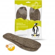 biped minimal sole ZUBIRI - 2 Paar Wollfilz Einlegesohlen - spezielle Form - passen nur in Minimal- und Barfußschuhe