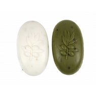 2 Stück Ovis Schafmilchseife Olive mit Blütenblättern z2664