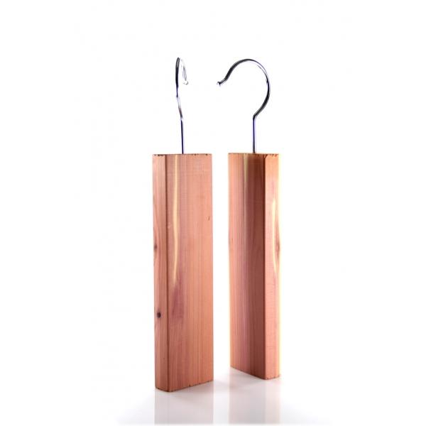 1 Paar Zedernholz Aufhänger Mottenschutz z1421