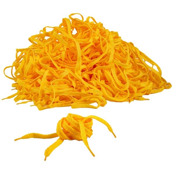 Schnürsenkel - Schuhbänder - Sonderposten zum Basteln - 200 Stück gelb ca. 85 - 90 cm - Zubehör für die Anfertigung selbst genähter Mundmasken - z1106