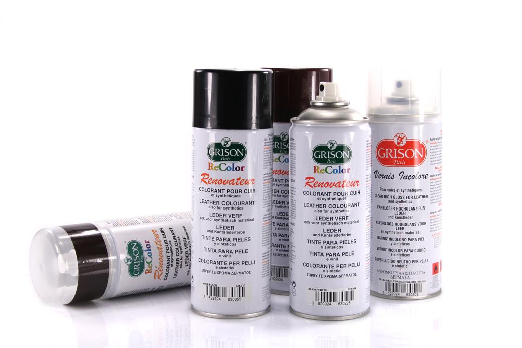 3 75 100ml grison recolor spray zum leder f rben lederfarbe 400 ml z1551. Black Bedroom Furniture Sets. Home Design Ideas