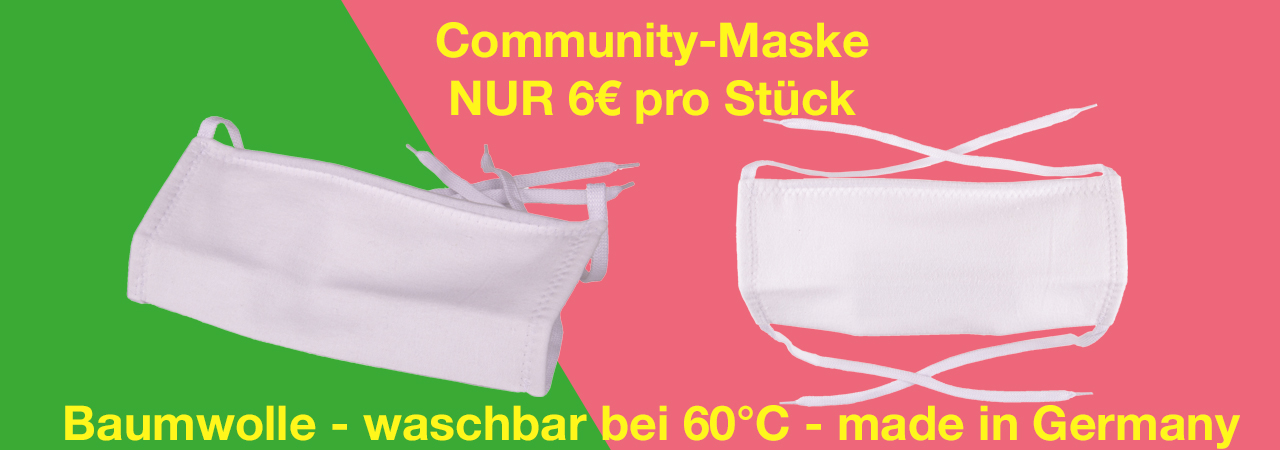 Community-Maske aus Baumwolle